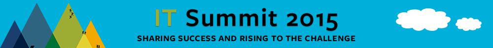 header for IT Summit 2015 June 8-9