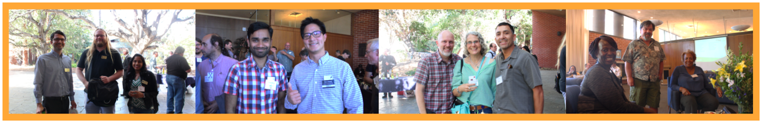 photos of One IT members at last year's staff appreciation event