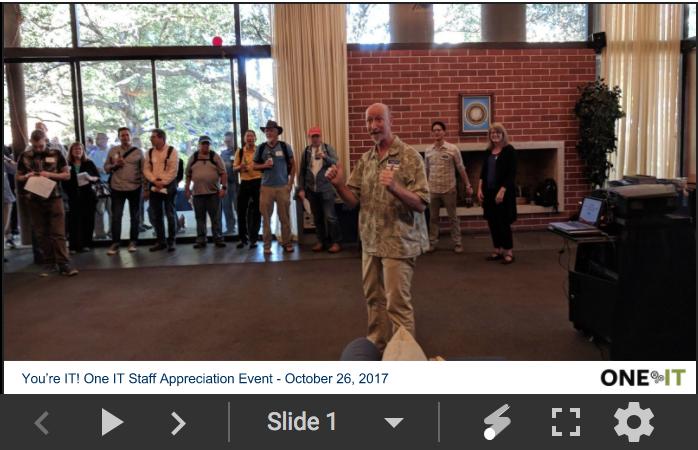 You're IT Staff Appreciation Slideshow