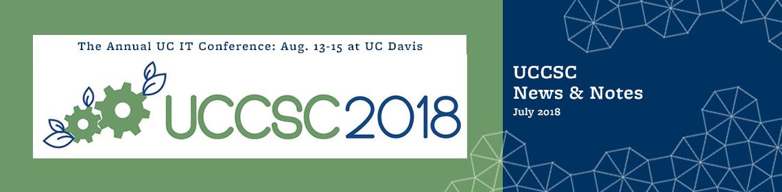 UCCSC News & Notes - July 2018
