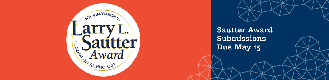 Sautter Award Submissions Due May 15