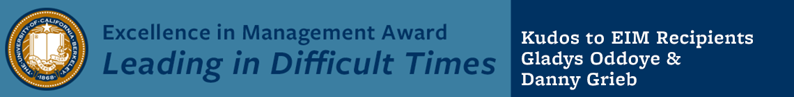 Kudos to Gladys Oddoye & Danny Grieb: Excellence in Management Award Recipients