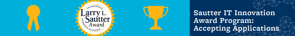 Sautter IT Innovation Award Program: Now Accepting Applications