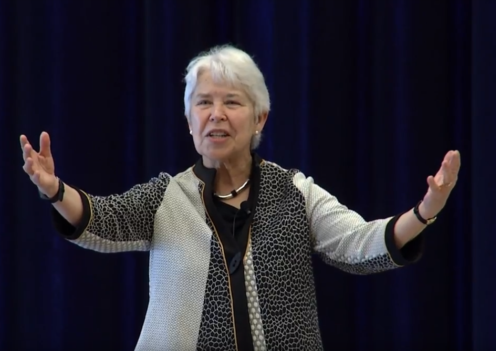 photo of Chancellor Christ speaking at IT Summit 2019