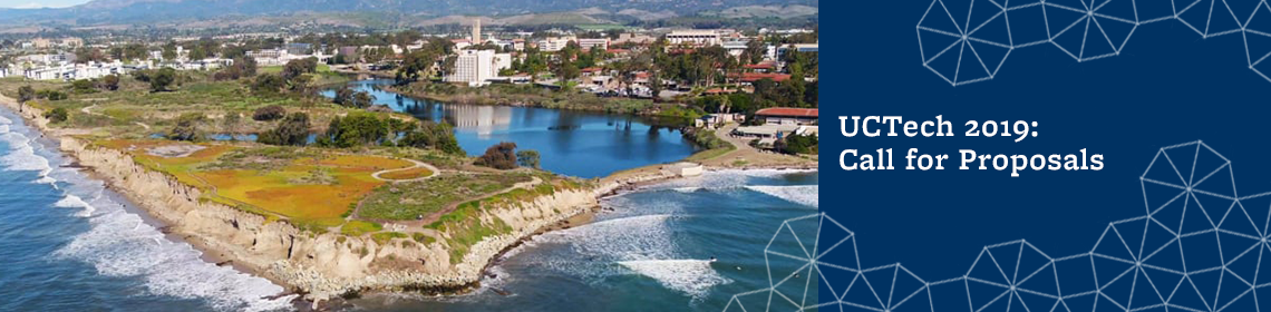 aerial photo of UC Santa Barbara, host for UCTech conference 2019
