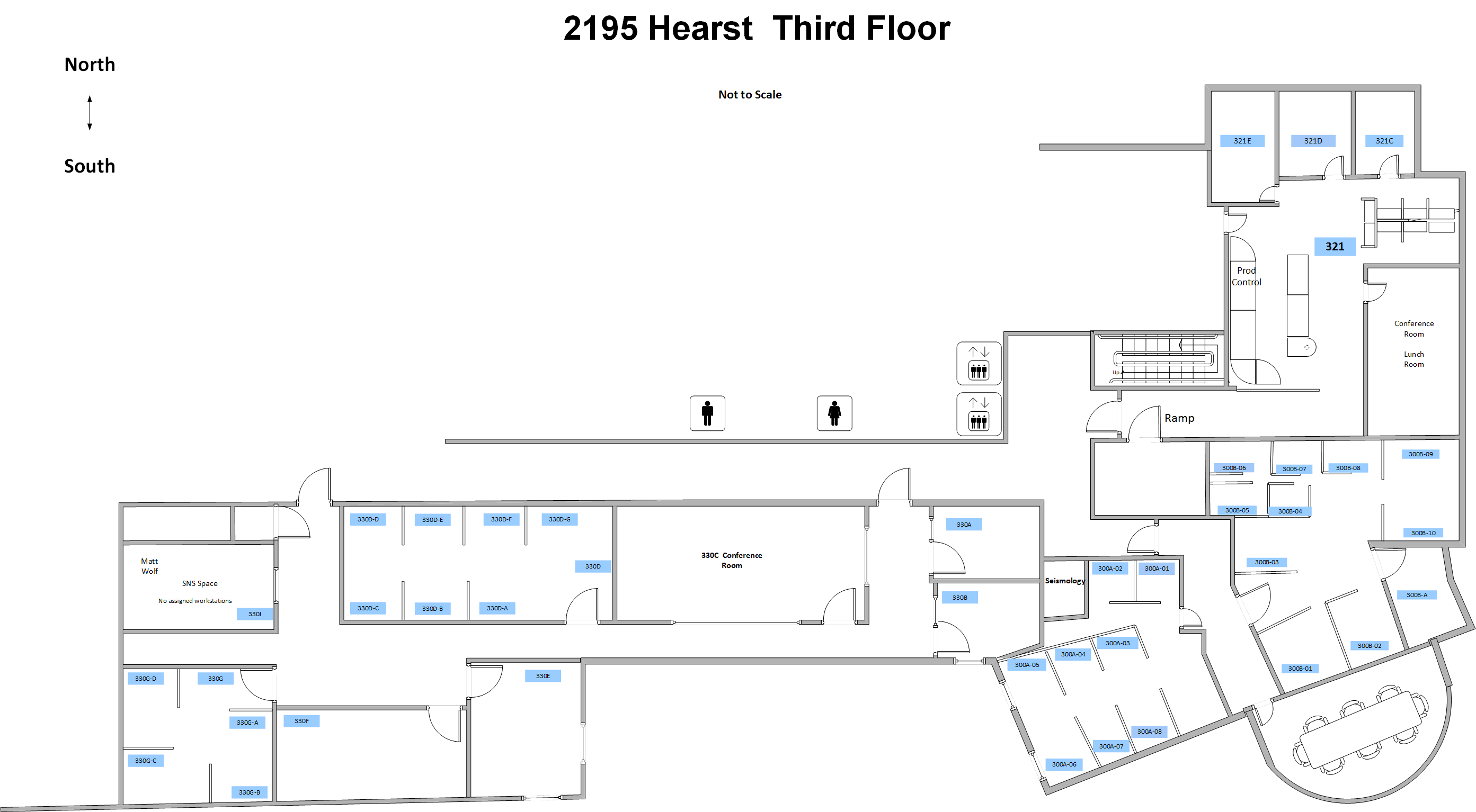 floor plan for 3rd floor of Earl Warren Hall