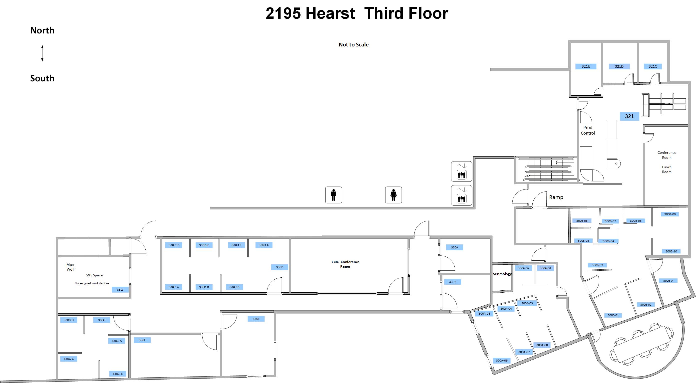 floor plan for 3rd floor of Earl Warren Hall