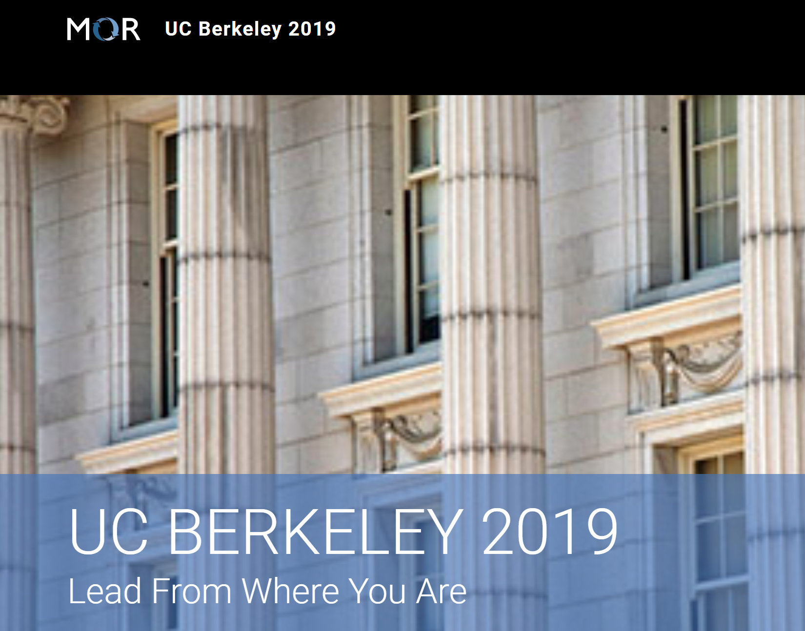 Visit the Mor UC BERKELEY 2019 Lead From Where You Are website