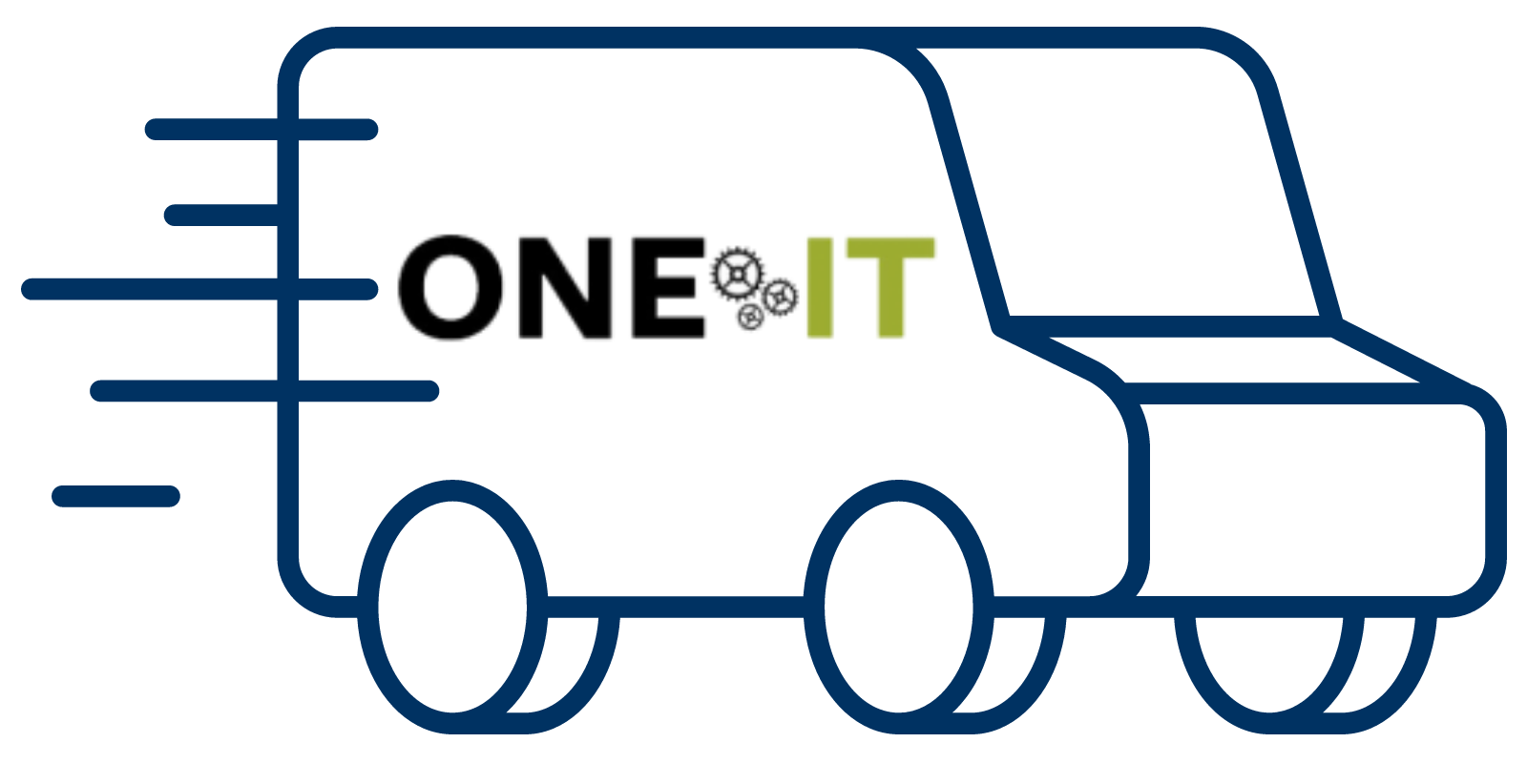One IT moving truck graphic