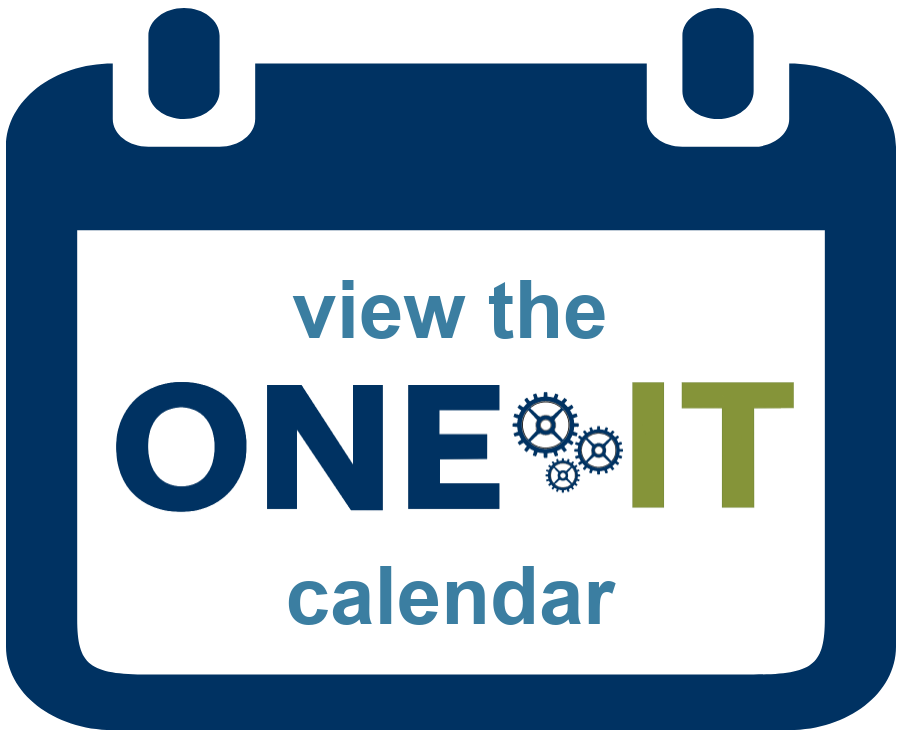 view the One IT calendar