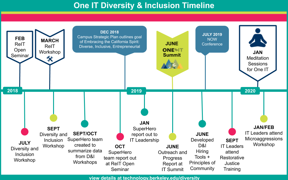 One IT D&I Timeline