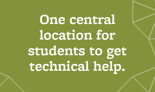 one central location for students to get technical help