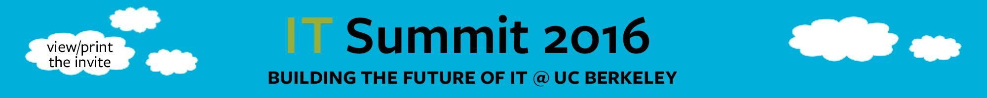 IT Summit header graphic of clouds