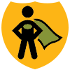 Tell Our Story super hero icon