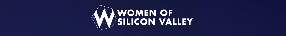 Women of Silicon Valley logo in blue banner