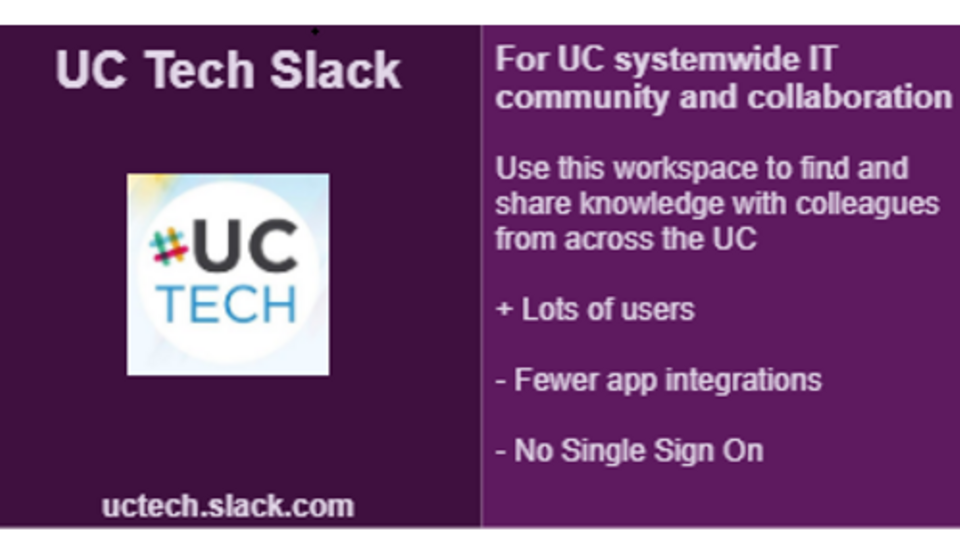 Revisiting the UCTech Slack Workspace