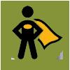 super hero icon for revenue generation group