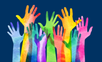 image of colorful hands