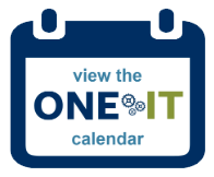 One IT calendar graphic