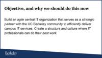 image of objective slide from presentation