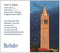 image of UCSF business cards