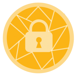 graphic with lock for cyber security